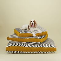 Black & Milk Striped Dog Pillow L -  assorted