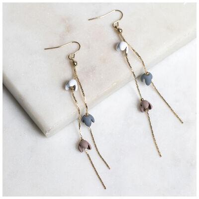 Falling Flowers Chain Earrings