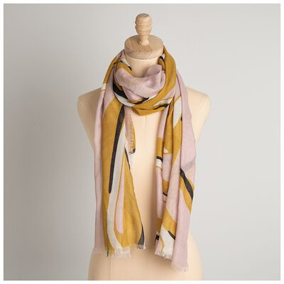 Evel Linear Printed Scarf