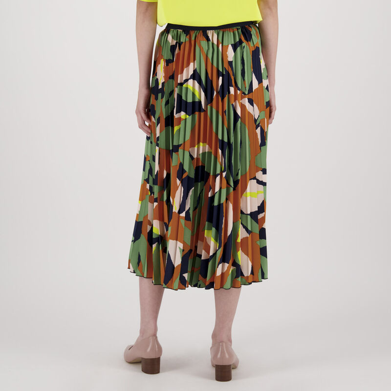 Ulrica Printed Skirt -  orange