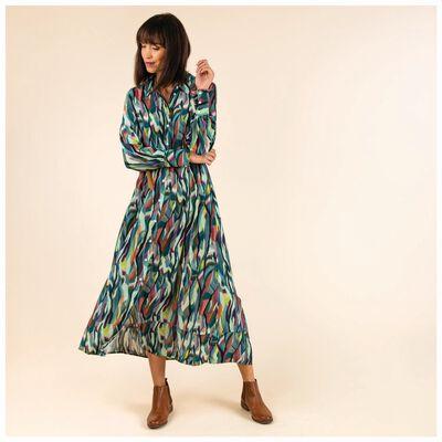 Asia Print Dress