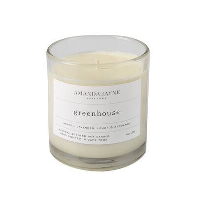 Amanda Jayne Greenhouse Candle in Glass