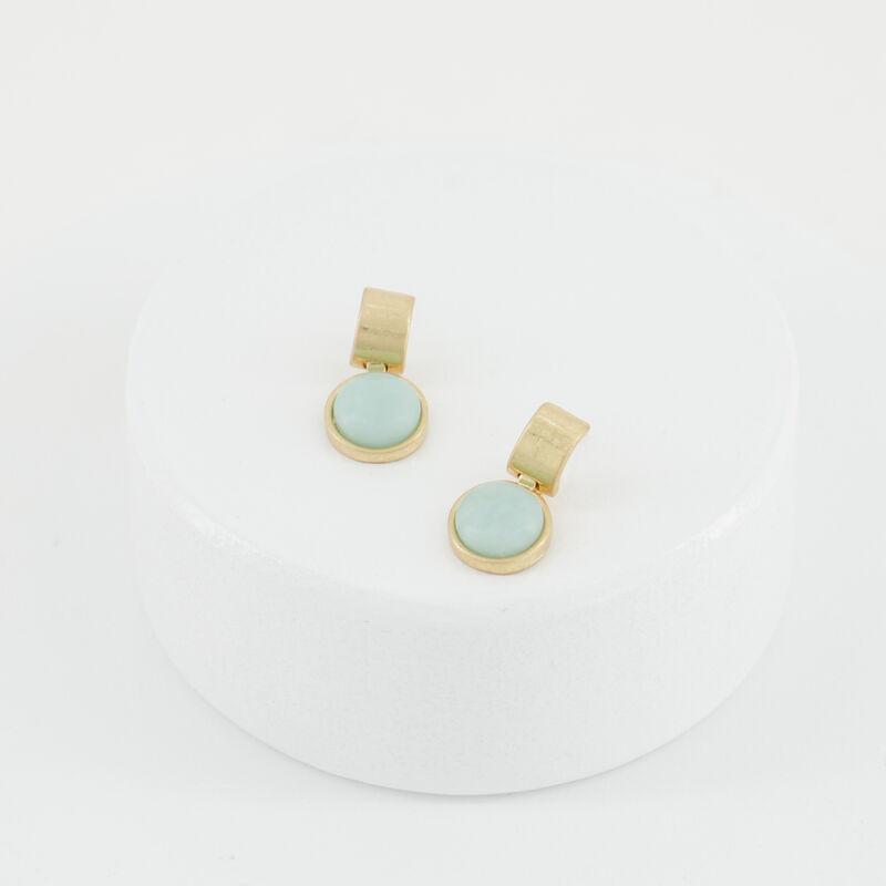 Bar and Circle Drop Earrings -  c84