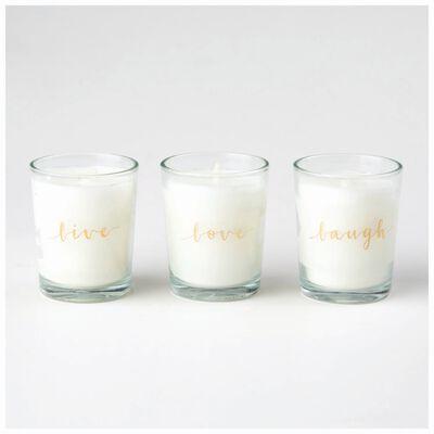 Love Votive Candle Set