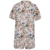 Raelynn Floral Short Pyjama Set -  white-pink