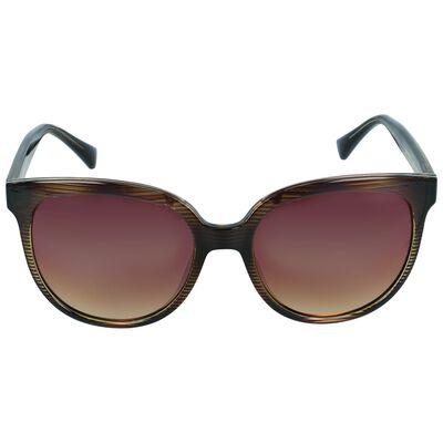 Classic Large Striped Sunglasses