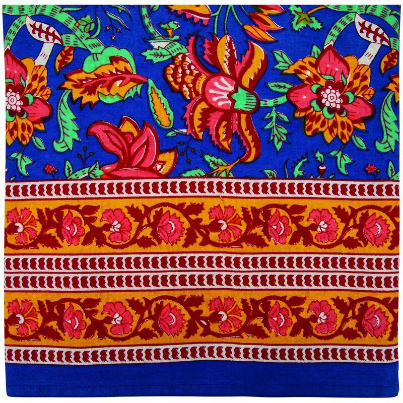 Saanvi Tablecloth -  blue-ochre