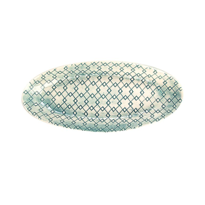 Wonki Ware Small Anna Oblong Server -  teal