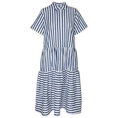 Lacy Stripe Shirt Dress