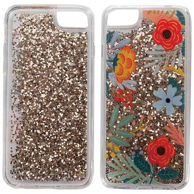 Poetry Glitter Flower iPhone Cover