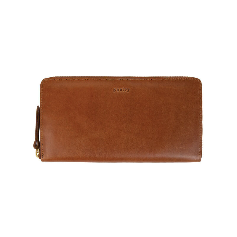 Annabella Leather Wallet -  tan
