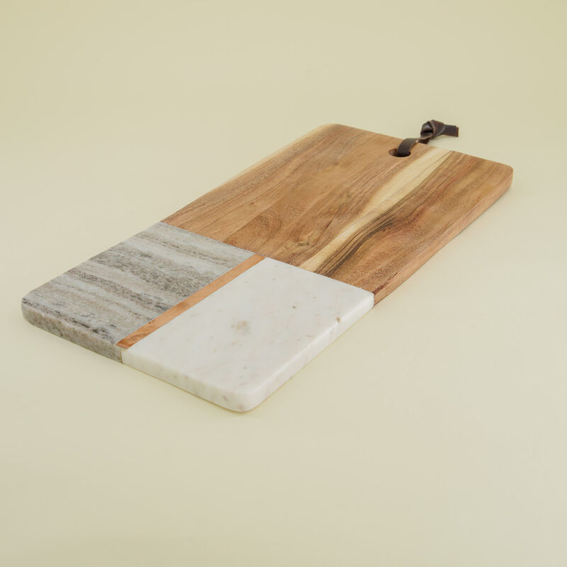 Wood & Marble Board -  white-brown