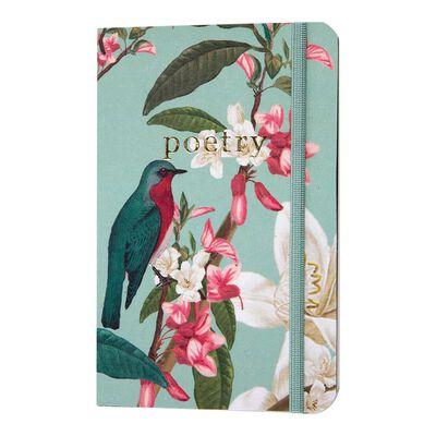 Vintage Bird Duck-egg Notebook