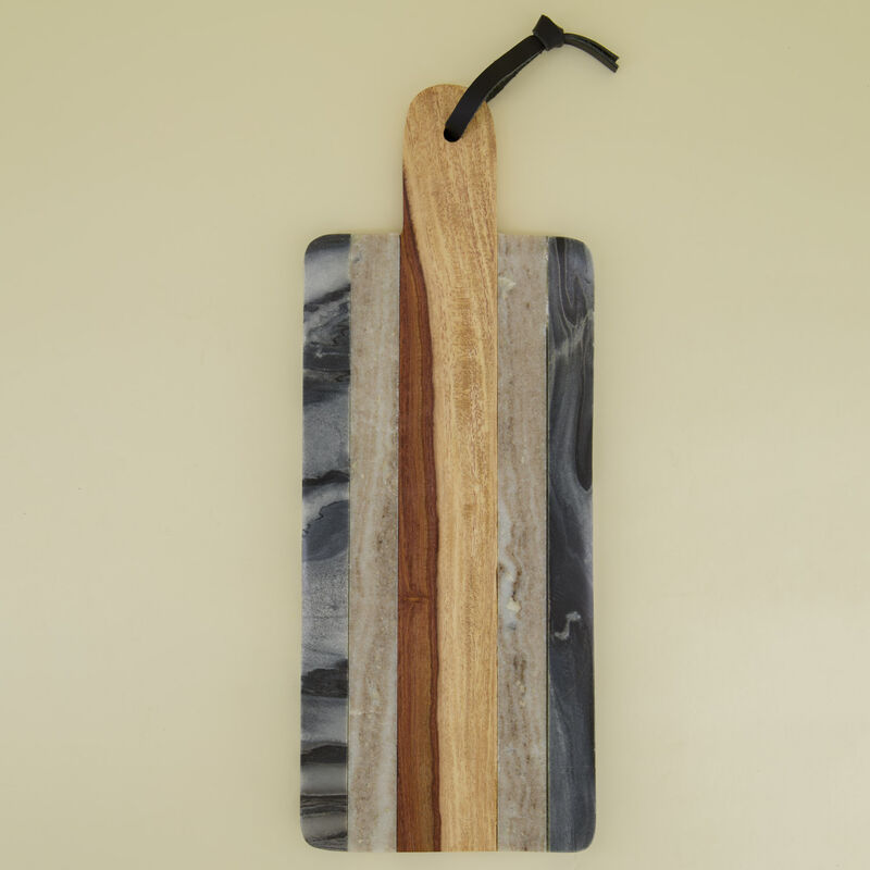 Marble & Wood Paddle Board -  grey-brown