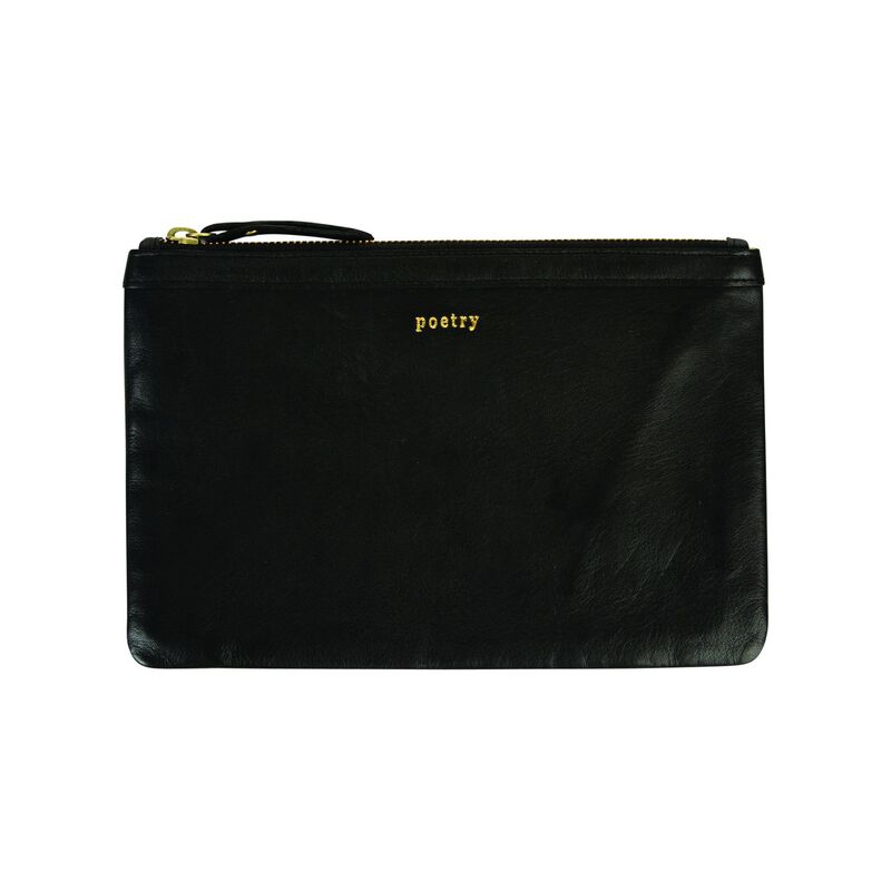 Taylor Leather Pouch -  black
