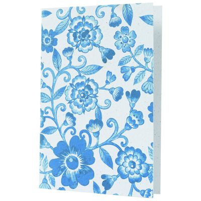 Growing Paper Blue Floral Card