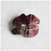 2-Pack Velvet Scrunchie Set -  pink