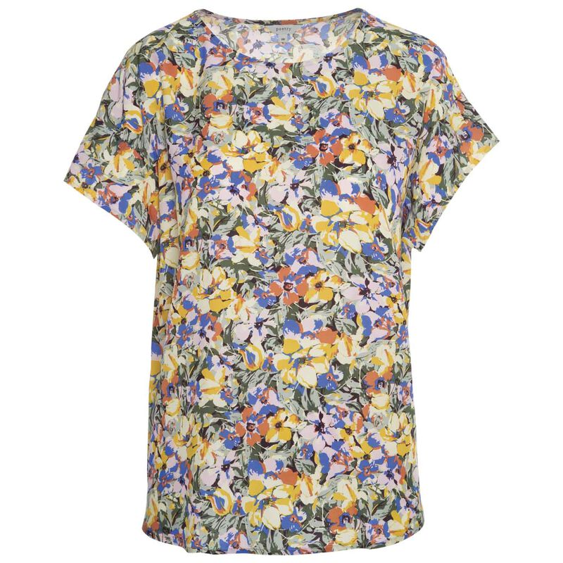 Rosy Floral Blouse -  olive