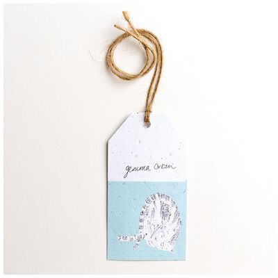 Gemma Orkin Light Blue Cat Tag