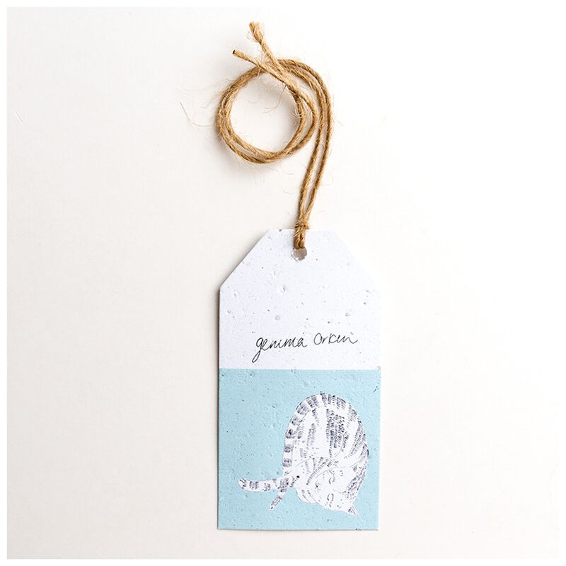 Gemma Orkin Light Blue Cat Tag -  lightblue
