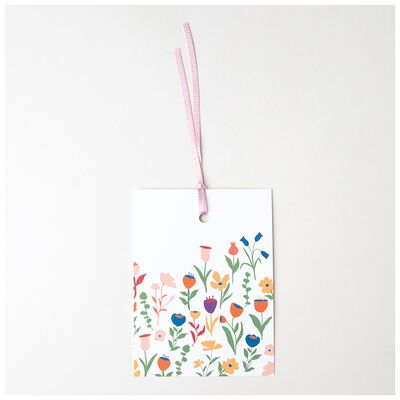 Love Letters White Floral Mom Tag