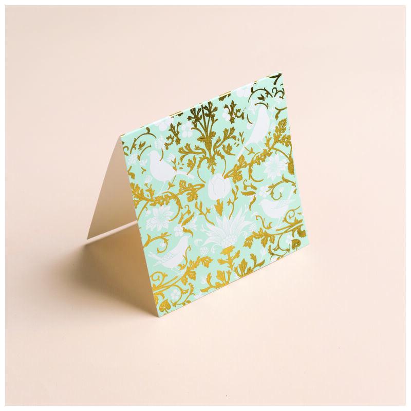 Mint Chintz Card -  green