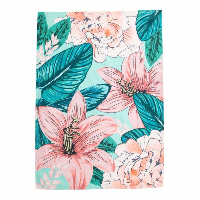 Oversized Florals Tea Towel -  assorted