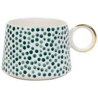 Kapula Akara Dotted Mug -  green-white