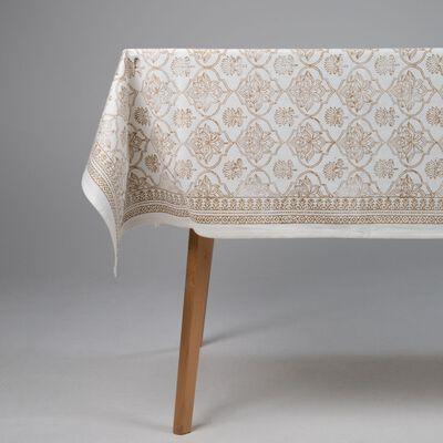 Gold Block print Tablecloth