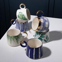 Kapula Blue & Gold Wide Stripe Mug -  blue-gold