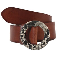 Emberly Leather Belt -  rust