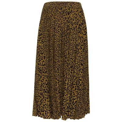 Barbara Animal Pleated Skirt