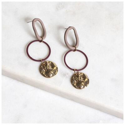 Coated Link Hoop Earrings