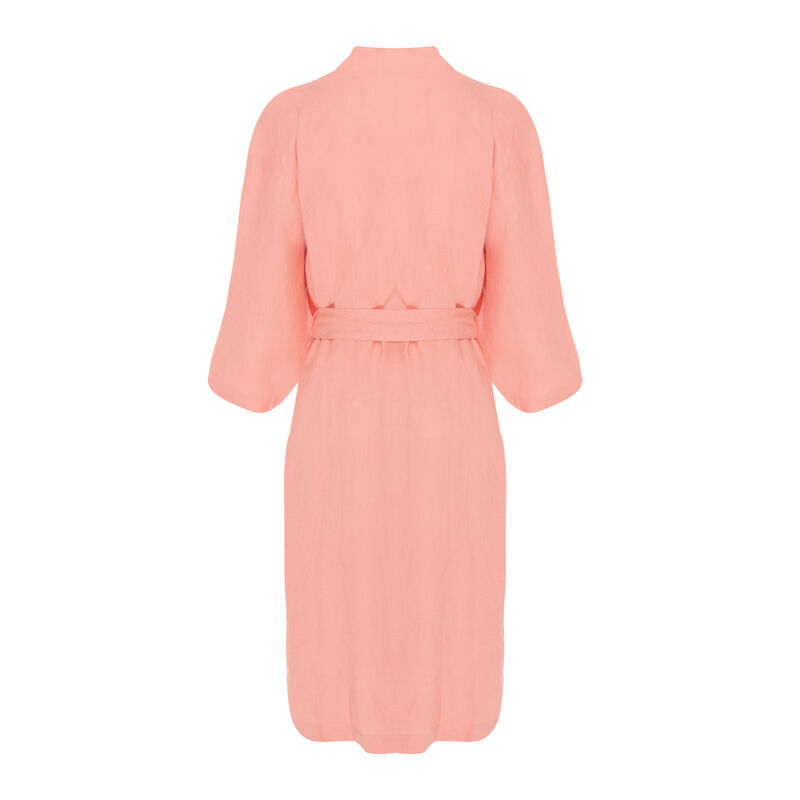 Hunny Linen Gown -  salmon