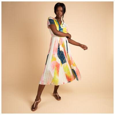 Tonya Abstract Wrap Dress
