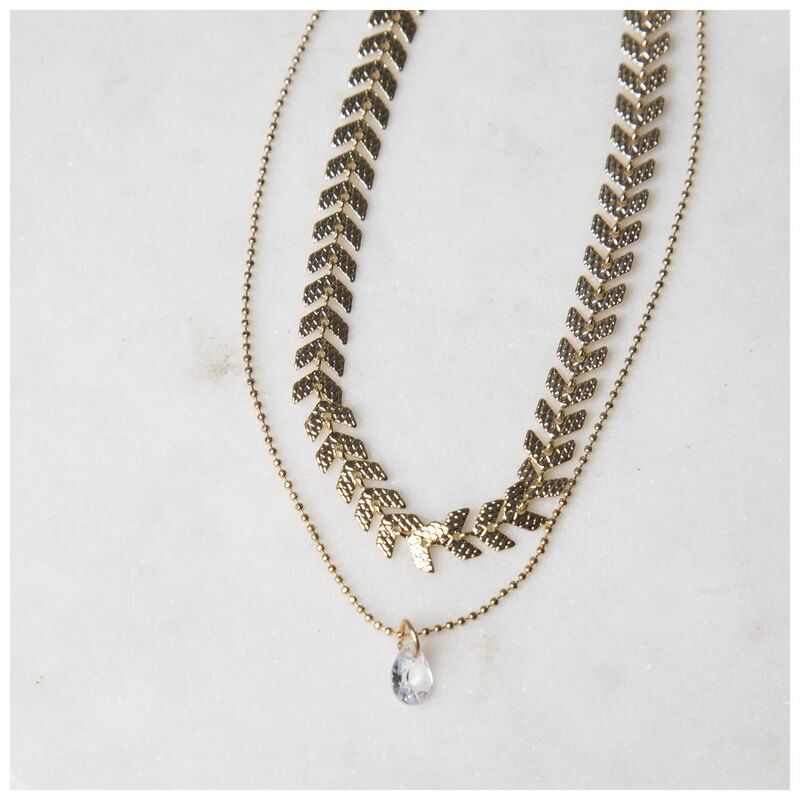 Dainty Layered Necklace -  gold