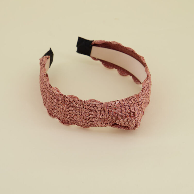Riona Straw Textured Alice Band -  c35