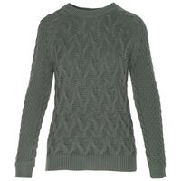 Heidi Cable Pull Over -  sage
