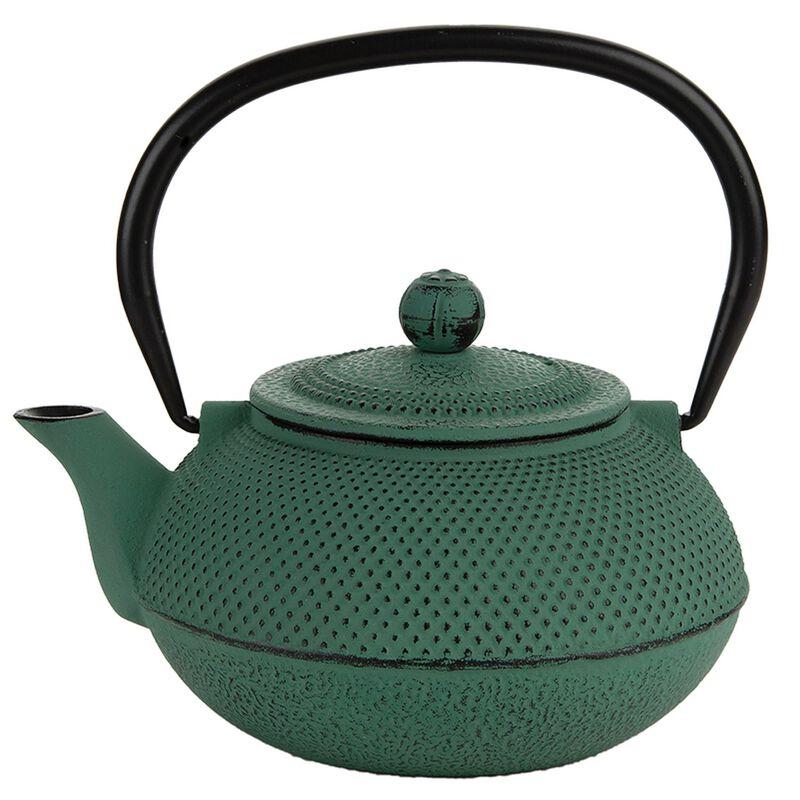 Seafoam Cast Iron Teapot  -  sage