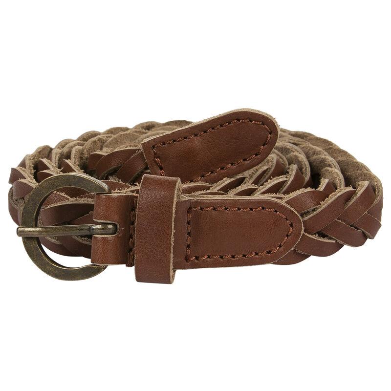 Laura Plaited Belt -  brown