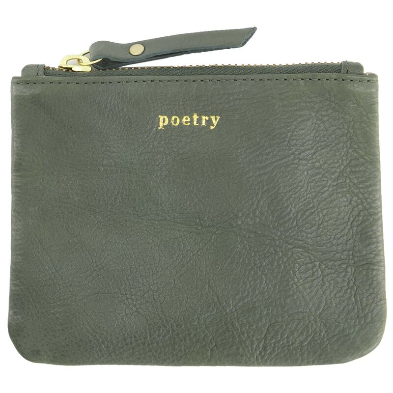 Moira Leather Small Pouch -  sage-sage