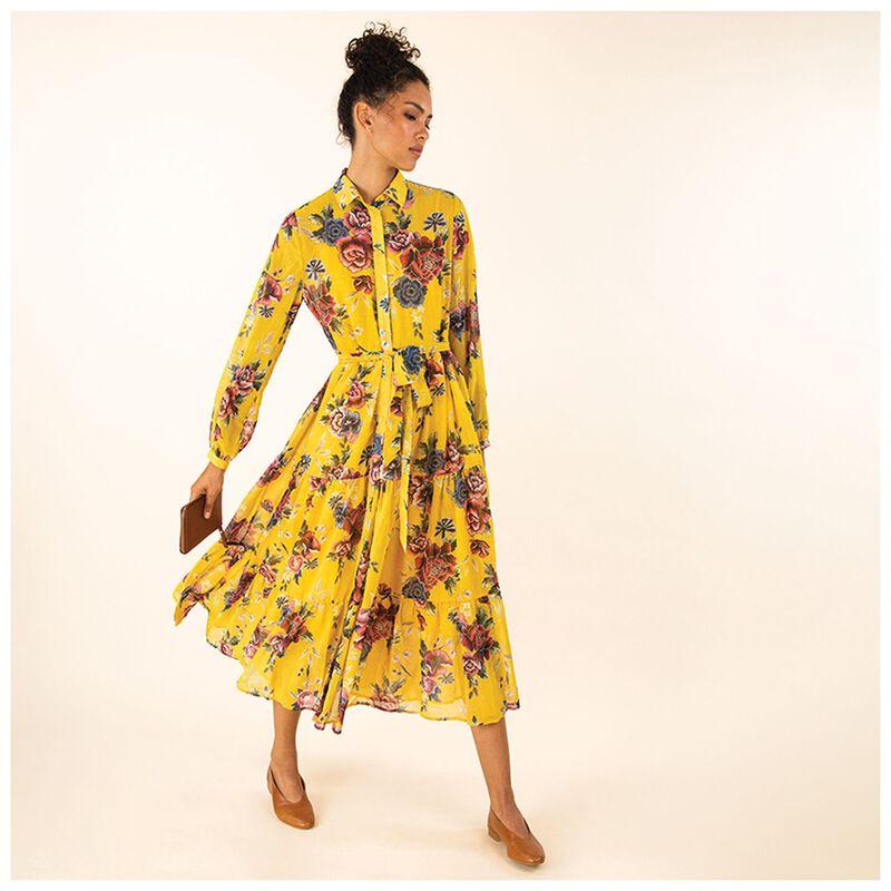 Bailey Floral Maxi Dress -  yellow