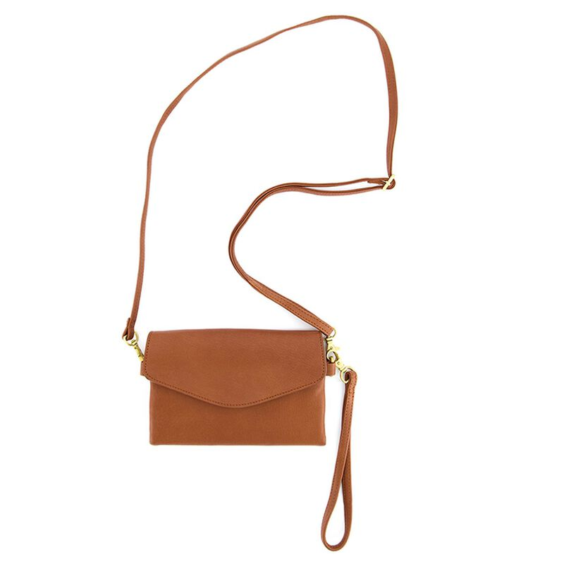 Billie Multi-Functional Mini Cross Body Leather Bag -  tan-tan