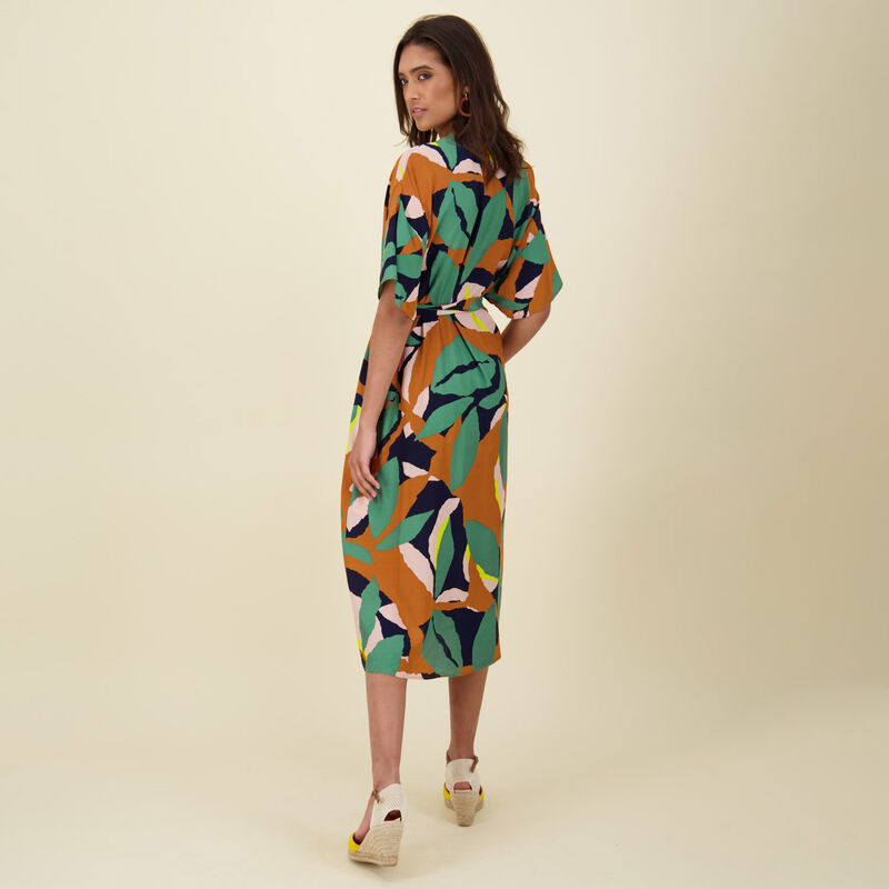 Jules Printed Dress -  orange