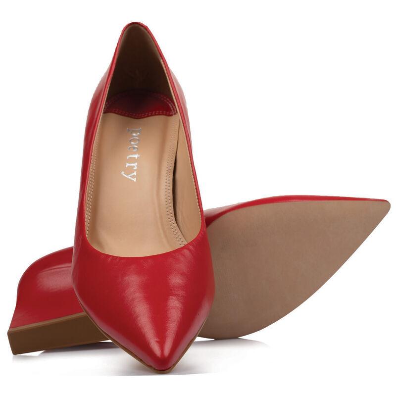 Petra Low Heel -  red