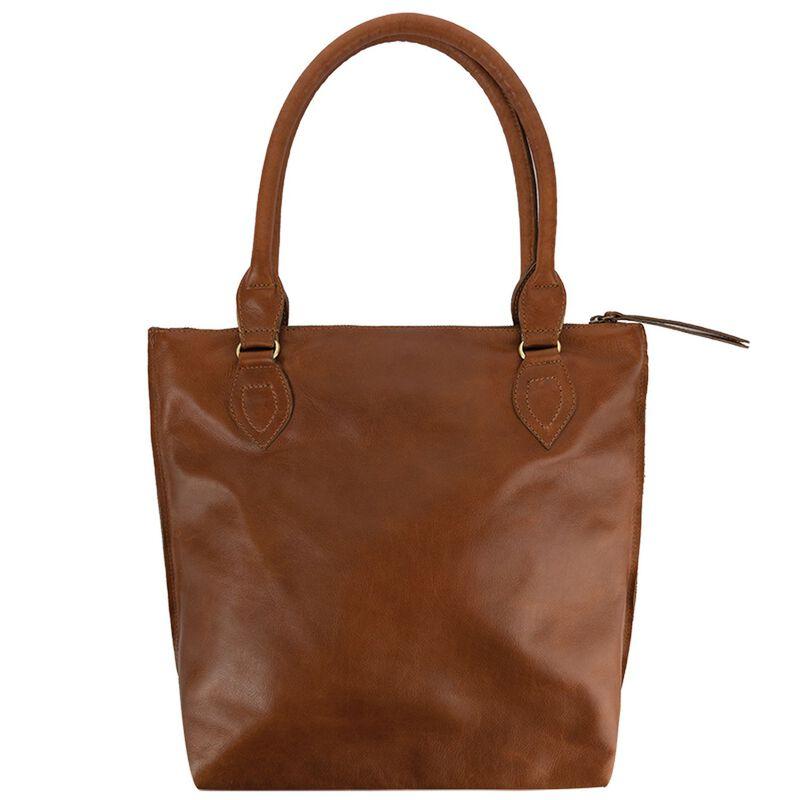 Lucille Leather Shopper Bag -  tan