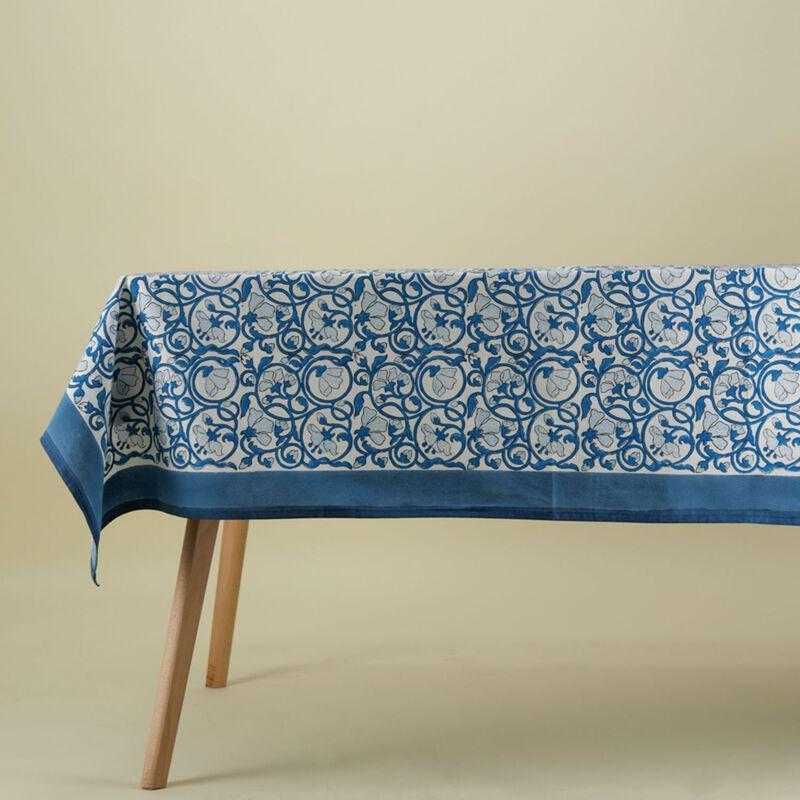 Blue Floral Tablecloth -  dc5409