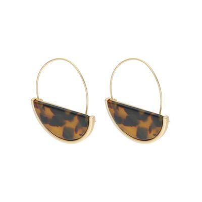 Half Circle Resin Drop Earrings