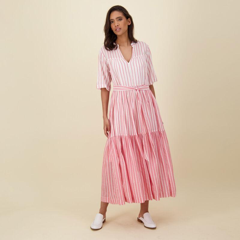 Gwen A-Line Dress -  red