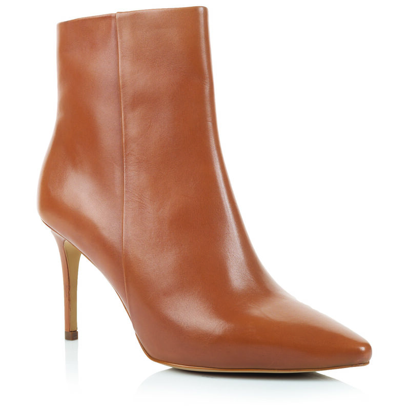 GIANNA Ladies Pointy Stiletto Boot -  tan